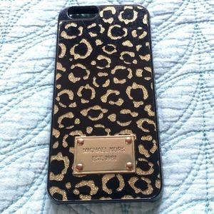 MICHAEL KORS Gold Glitter Leopard iPhone 6/6s Case